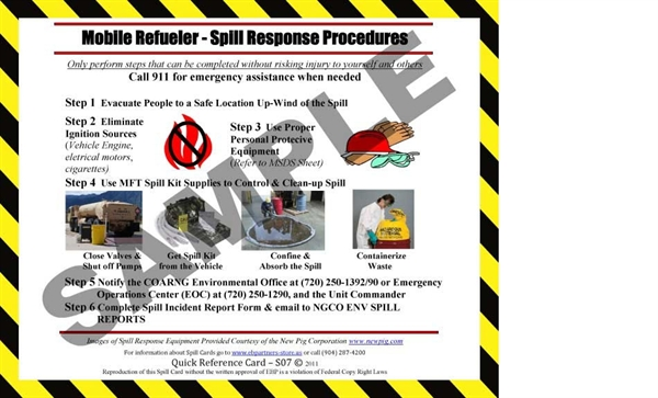 Picture of S07 - Mobile Refueler Quick Reference Spill Guidance