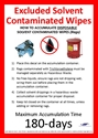 Picture of Excluded Solvent Contaminated Wipes - Disposal