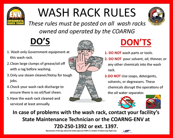 Picture of Wash Rack Sign